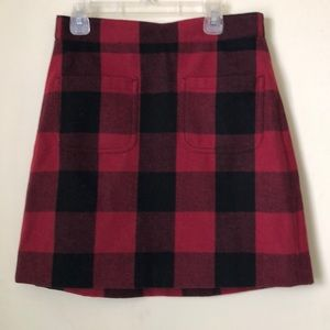 J. Crew Buffalo Plaid Skirt (NWT)